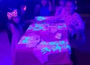 Fiesta neón,spa para niñas,karaoke