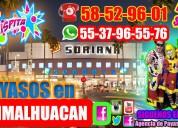 Destrezas payasos show en chimalhuacan
