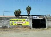 Terreno bardeado en renta barato con bodega 650 m2