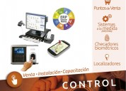 Puntos de venta, checadores biométricos, sistemas