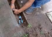 Destape de drenaje en registros, wc, fregaderos