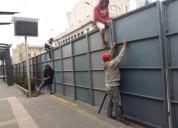 Renta de vallas de alta seguridad tipo barricada