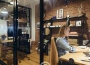 Oficinas completamente equipadas.