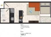 0617 estudio en el corazon de playa del carmen 13 f2 1 dormitorios 27 m2