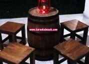 Renta de mesas de barril tipo bar en monterrey