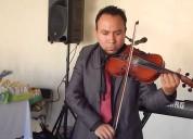Violinista para presentaciones de expo muebles bod