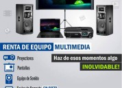 renta de eq, multimedia
