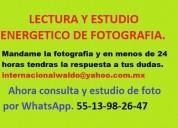 Lectura y estudio energÉtico  de fotografÍa por whatsapp.