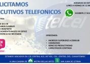 EJECUTIVO TELEFONICO MEDIO TIEMPO LUNES A SABADO