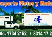 Servicio de trasporte de fletes y mudanzas