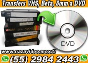 *transferencias  vhs, beta, 8mm a dvd y mp4*