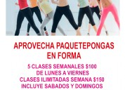 salon de zumba spining y baile mixto