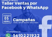 Taller vende a través de facebook y whatsapp