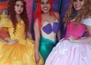 Espectacular show en vivo de princesas