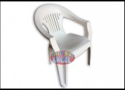 Silla italia de plástico blanca