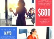 Adquiere tu oficina virtual con la promo de mayo