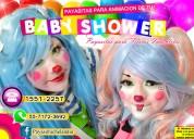 Payasitas con cigueña para tu baby shower