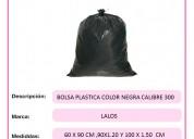 Bolsa para basura calibre 300 negra