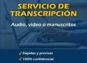 Servicio de transcripción de audios, videos y más