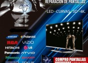 Reparación de pantallas led, lcd smart 4k