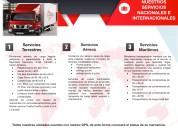 Serv. de transporte de carga nacional e intern.