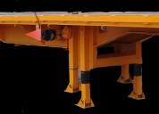 Plataforma extendible 53'a 80' 3 ejes nueva