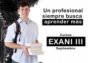 Cursos propedéuticos exani iii