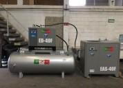 Paquete compresor fermon de 40 hp , secador fermon