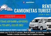 Viaje comodo y seguro en camionetas turisticas