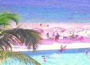 Con playa vista panorámica y albercas departamento