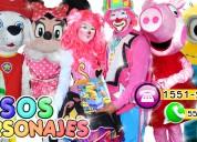 payasos con personajes para tu fiesta - cdmx/edomx