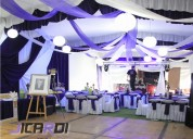 Carpas elegantes, banquetes y bar movil