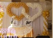 Mesa de dulces, decoraciones con globos para todo tipo de eventos profesionales