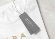 Vendedor de etiquetas para ropa  tejida o bordada
