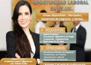 Oportunidad de empleo en estados unidos