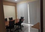 Espacios amueblados acondicionados para oficina