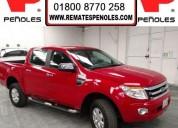Peñoles remata ford ranger 2014 4p pickup xlt dobl