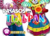 Payasos para fiestas infantiles en tlalpan