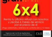 Renta tu oficina virtual, promoción en mva
