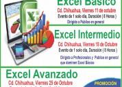 Cursos de excel ( basico, intermedio y avanzado )