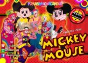 Show de payasos con mickey y mimí para tu fiesta