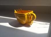 Taza excavadora para café de cerámica