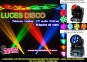 Renta de set de luces roboticas mini disco - dj en monterrey fiesta