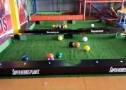 Mesa de billar gigante para snookball