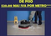 Promocion de pulido de piso industrial