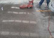 Abrillantado de piso de cemento