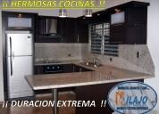 Cocinas integrales con cubierta de granito natural