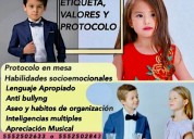 Cursos/clases niños niñas modales valores conducta