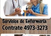 Enfermeras y cuidadores a domicilio y hospitales