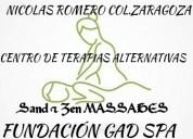Servicio de masajes como:  *masajes relajantes y d